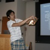 Lawrence High School Teacher Shige Tanaka presenting at PROMYS for Teachers
